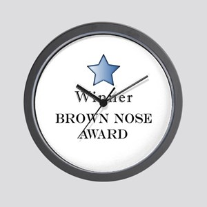 The Best Brown Nose Award - Wall Clock