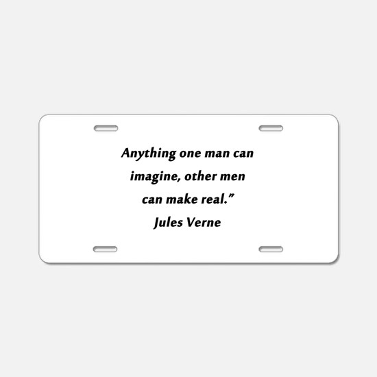 Verne On Imagination Aluminum License Plate