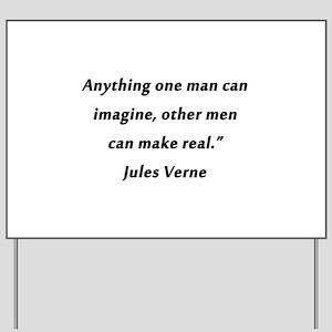 Verne On Imagination Yard Sign