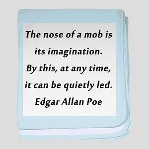 Poe on Mobs baby blanket