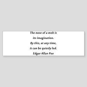 Poe on Mobs Sticker (Bumper)