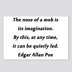 Poe on Mobs Postcards (Package of 8)