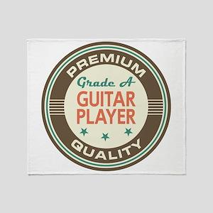 Guitar Player Vintage Throw Blanket