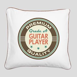 Guitar Player Vintage Square Canvas Pillow