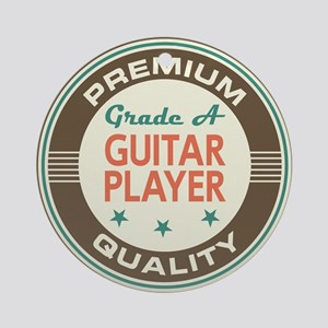 Guitar Player Vintage Ornament (Round)