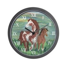 Horse And Colt Gift Wall Clock