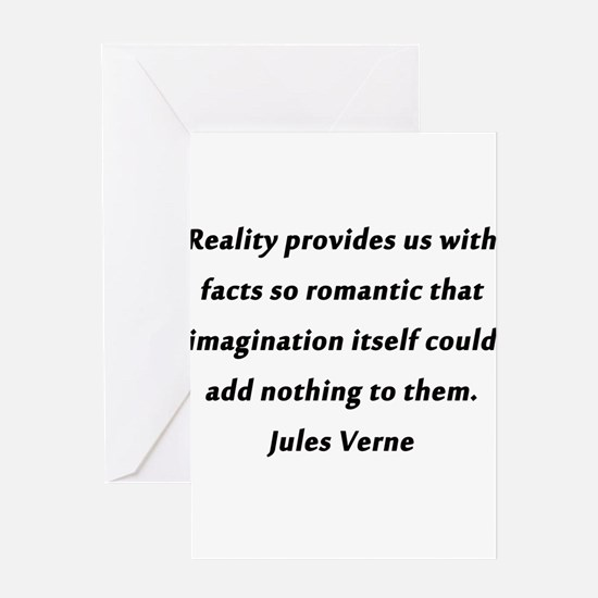 Verne On Reality Greeting Card
