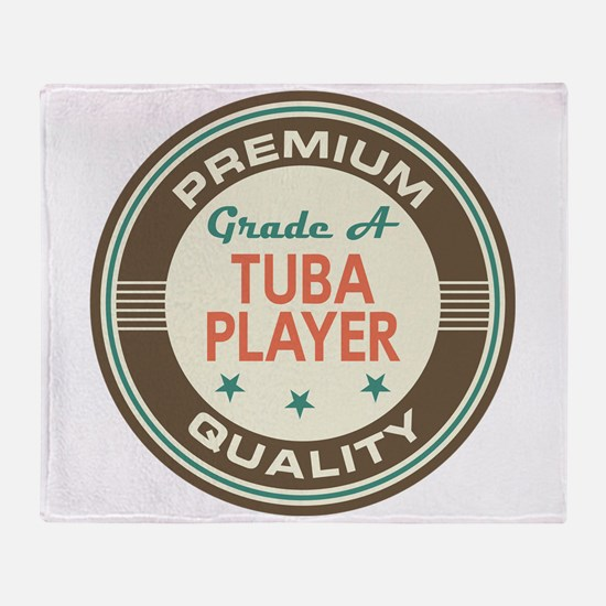 Tuba Player Vintage Throw Blanket