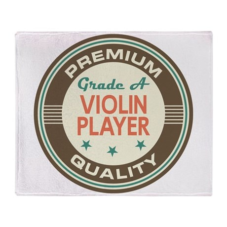 Violin Player Vintage Throw Blanket