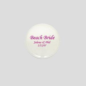 Personalized Beach Bride - Jo Mini Button