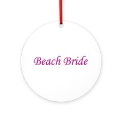 Beach Bride Ornament (Round)
