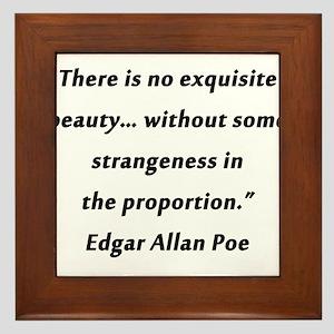 Poe On Beauty 2 Framed Tile