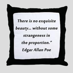 Poe On Beauty 2 Throw Pillow