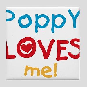 Poppy Loves Me Tile Coaster