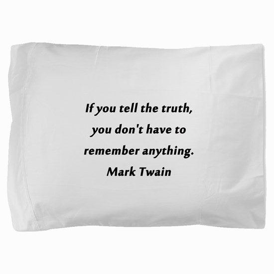 Twain On Truth Pillow Sham