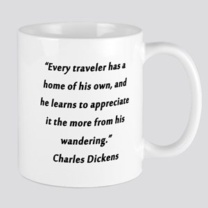 Dickens On Traveling and Home 11 oz Ceramic Mug