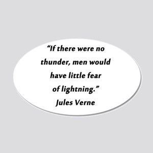 Verne On Thunder 20x12 Oval Wall Decal