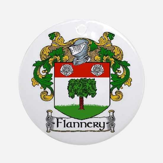 Flannery Coat of Arms Ornament (Round)