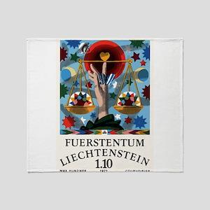1977 Liechtenstein Libra Postage Stamp Graphic Thr