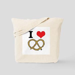 I Heart (Love) Pretzels Tote Bag