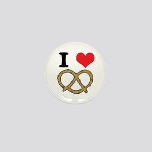 I Heart (Love) Pretzels Mini Button