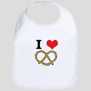 I Heart (Love) Pretzels Bib
