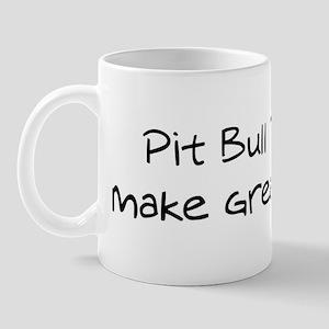 Pit Bull Terriers make friend Mug