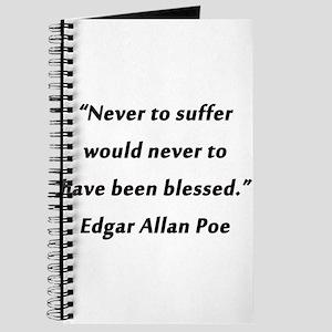 Poe On Suffering Journal
