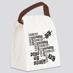 Cross Country Runs Canvas Lunch Bag