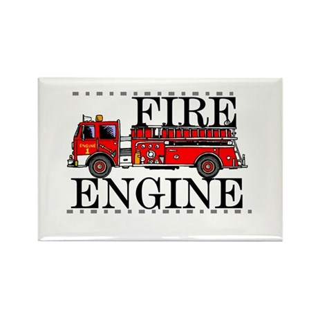 Red Fire Engine Rectangle Magnet