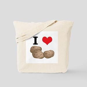 I Heart (Love) Potatoes Tote Bag