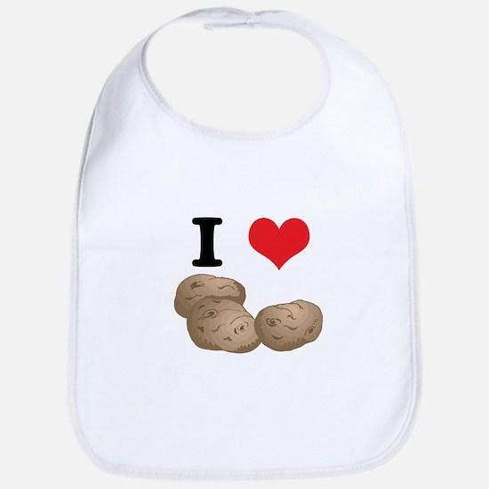 I Heart (Love) Potatoes Bib