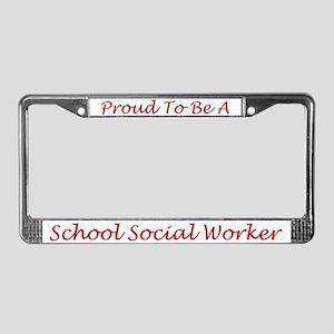 School Social Worker License Plate Frame