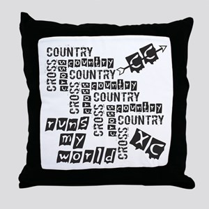 Cross Country Runs Throw Pillow