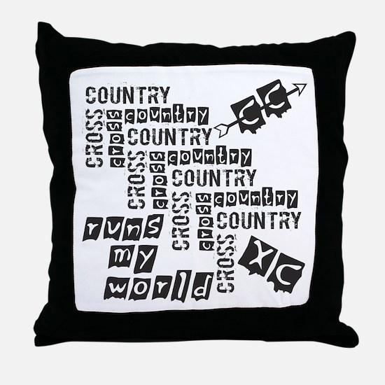 Cross Country Runs Throw Pillow