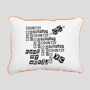 Cross Country Runs Rectangular Canvas Pillow