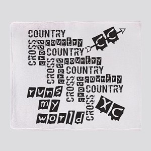 Cross Country Runs Throw Blanket