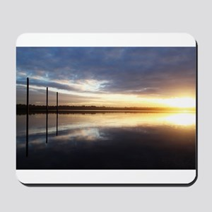 Breaking Dawn Over Still Lake Water Mousepad