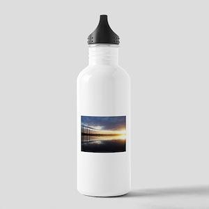 Breaking Dawn Over Still Lake Water Water Bottle