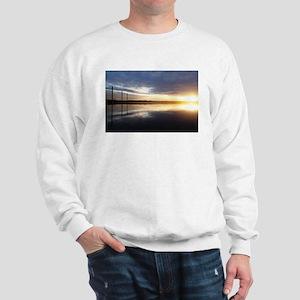 Breaking Dawn Over Still Lake Water Sweatshirt