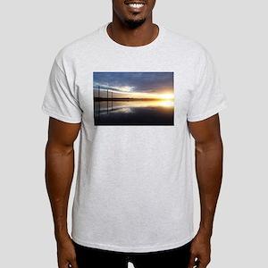 Breaking Dawn Over Still Lake Water T-Shirt