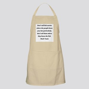 Dont Tell Fish Stories Light Apron