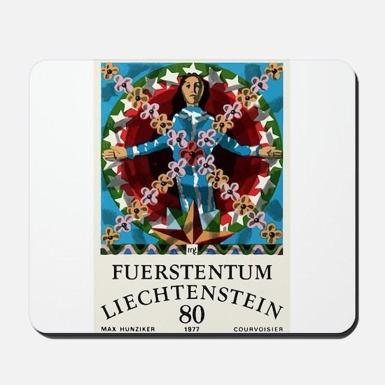 1977 Liechtenstein Virgo Postage Stamp Graphic Mou