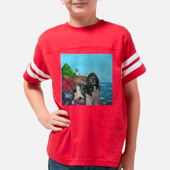 landseer_and_lighthouse2 Youth Football Shirt