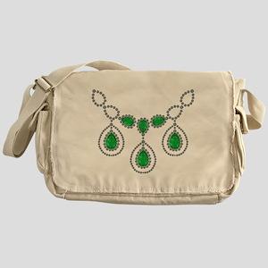 Emerald and Diamond Necklace Messenger Bag