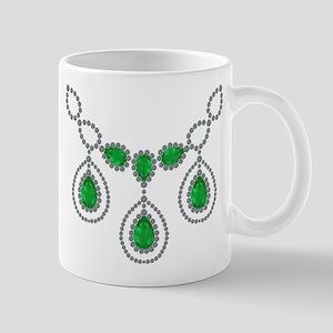 Emerald and Diamond Necklace Mug