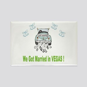 We Got Married in VEGAS Rectangle Magnet (10 pack)