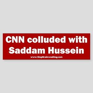 CNN Colluded with Saddam Sticker (Bumper)