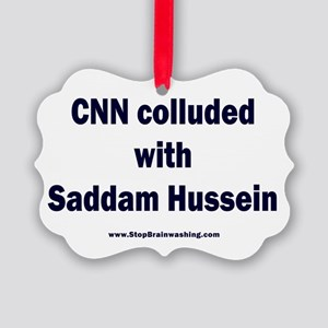 CNN Colluded with Saddam Picture Ornament