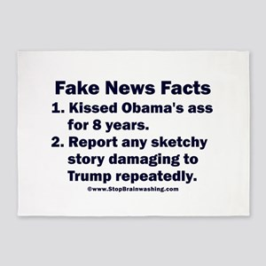Fake News Facts 5'x7'Area Rug